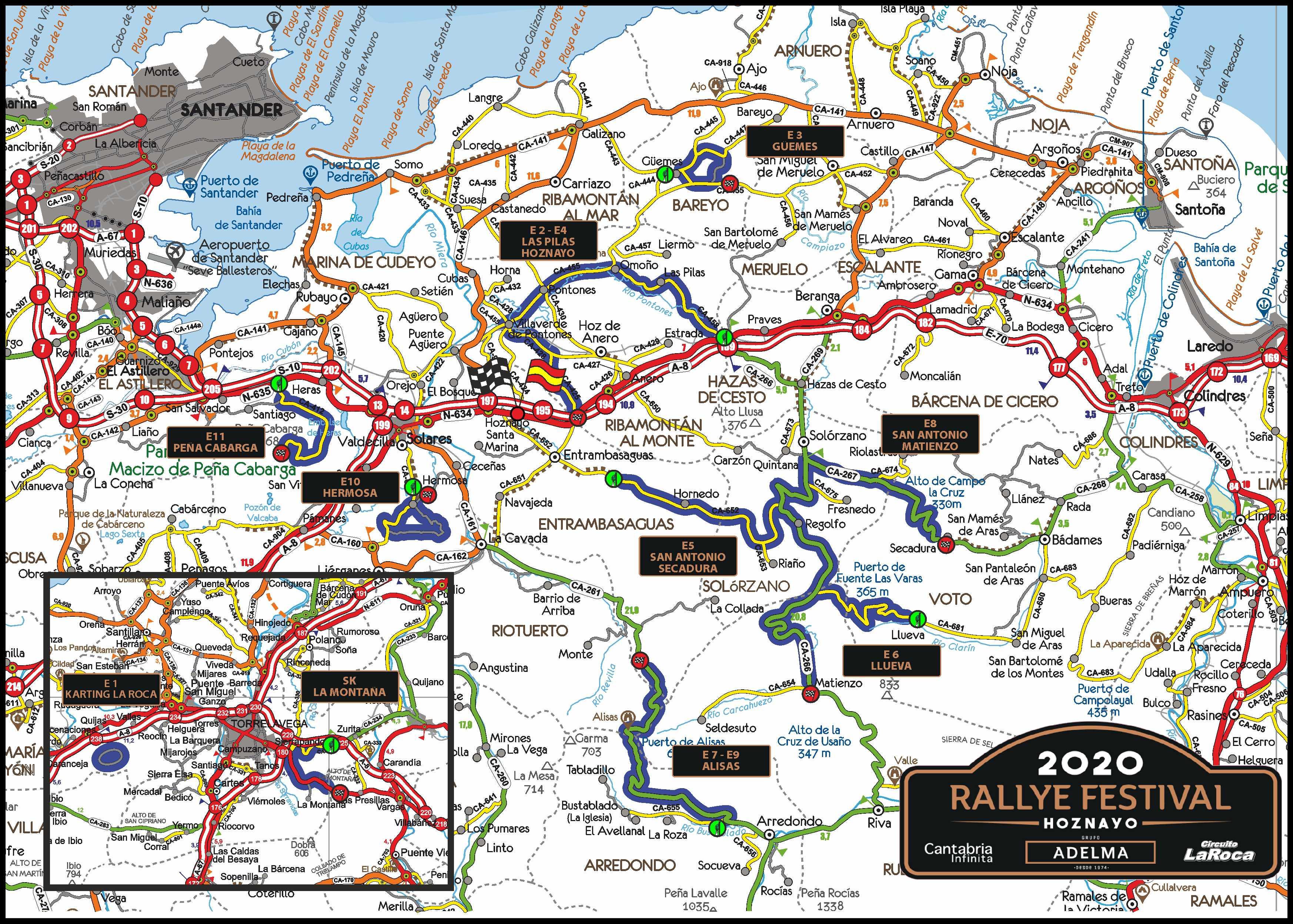 Rallye Festival Hoznayo 2021 [16-18 Septiembre] Mapa